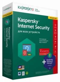 ПРОДЛЕНИЕ КАСПЕРСКИЙ INTERNET SECURITY 2016 CARD 2-DEVICE 1 YEAR PACK (KL11712OBFR)